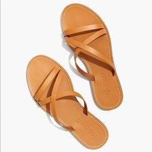 NWT Madewell Broadway Skinny Strap Slide Sandal